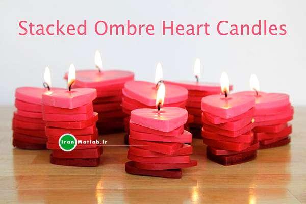 آموزش ساخت شمع شمع قلبی عکس شمع
