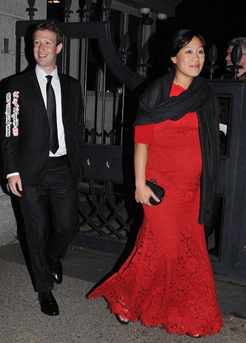 مالک فیس بوک ؛ مارک زاکربرگ و همسر باردارش در کاخ سفید + تصاویر